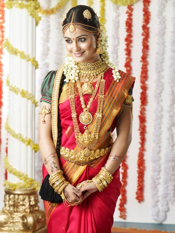 Most Beautiful South Indian Bridal Look Style Photography Poses Welcomenri