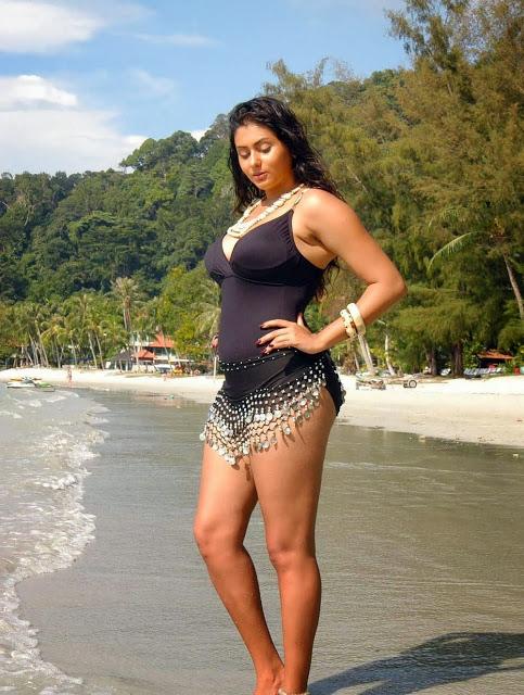 south indian actress namitha kapoor hot bikini beach pictures