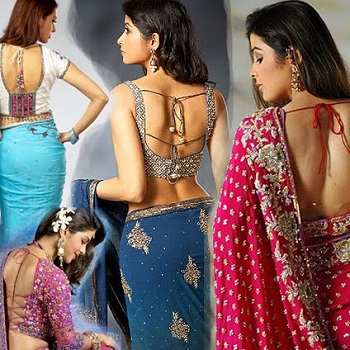 Backless Blouse Design | Designs For Backless Blouse | Blouse Designs